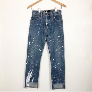 After Party by Nasty Gal paint splatter jeans